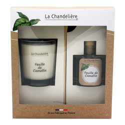Coffret bougie et diffuseur camelia LA CHANDELIERE, 280g