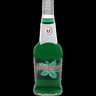 Liqueur de menthe peppermint U, 15°, bouteille de 70cl