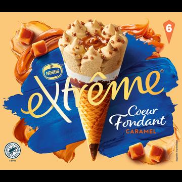 Nestlé Cône Crème Glacée Caramel Coeur Fondant Extreme X6 426g