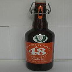 Bière ambrée La 48 BRASSERIE DE LOZERE 5% Vol., 75cl