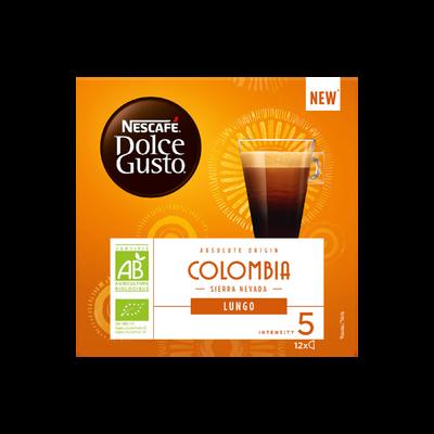 café dolce gusto Lungo Colombie NESCAFE, paquet de 84g