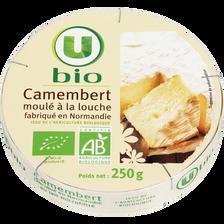 Camembert au lait microfiltré bio U,  22% de MG 250g