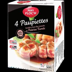 Paupiettes de porc congelées Viande Production Française, JEAN FLOCH,4 unités de 125g