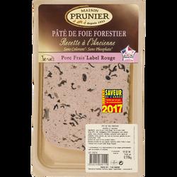 Pâté de foie forestier à l'ancienne en tranche PRUNIER, 170g