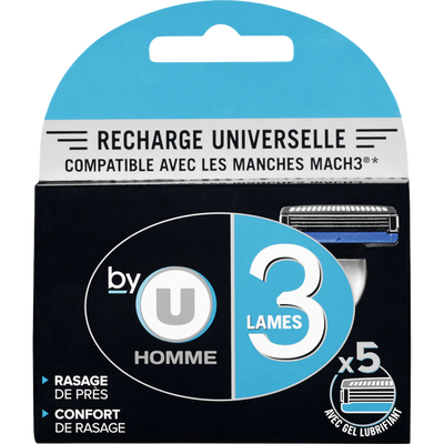 Recharge universelle 3 lames BY U, x5