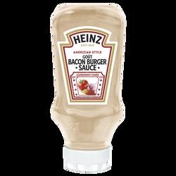 Sauce bacon burger HEINZ, flacon souple top down 220ml
