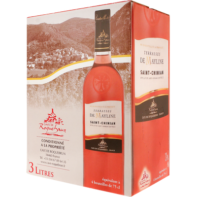 Saint Chinian AOC rosé Terrasses de Mayline, Bib, 3 litres