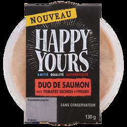 Duo de saumon tomates sechées figues HAPPY YOURS, 130G