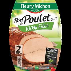 Rôti de poulet cuit FLEURY MICHON 100g