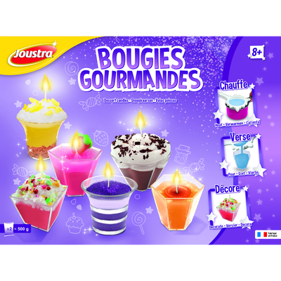 COFFRET BOUGIES GOURMANDES JOUSTRA