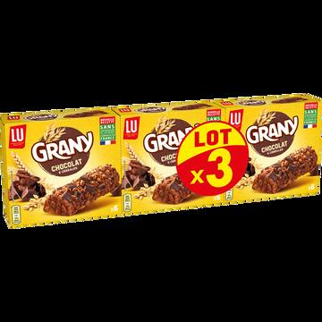 LU Barres Aux Céréales Et Chocolat Grany Lu, 3x125g