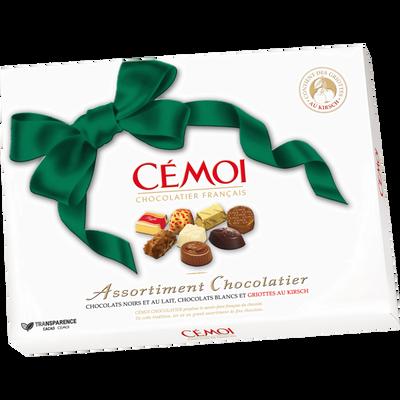 Chocolat noeud émeraude CEMOI, boîte de 445g