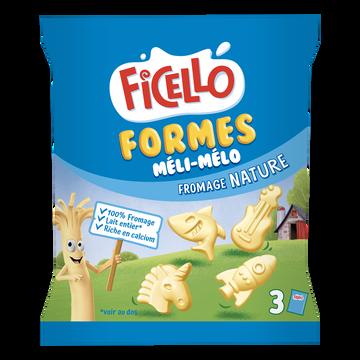 Ficello Spécialité Fromagère Pasteurisé Nature Ficello, 22,5% De Mg, X3 Soit 68g