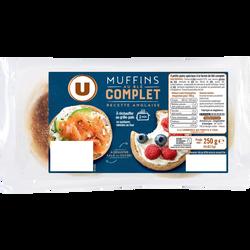 Muffins au blé complet Recette Anglaise U, x4 soit 250g