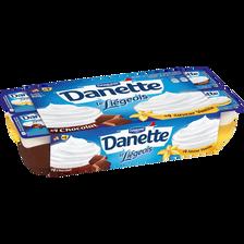 Dessert lacté au chocolat saveur vanille panaché, DANETTE, 8x100g