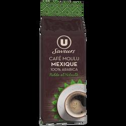 Café moulu arabica du Mexique U SAVEURS, paquet de 250g
