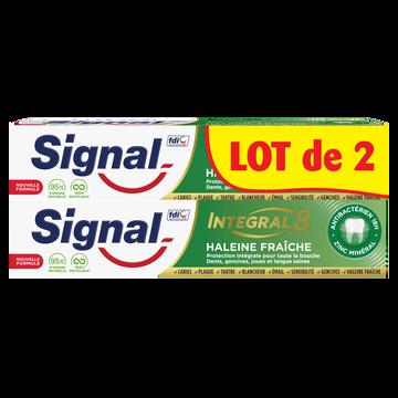 Signal Dentifrice Integral 8 Haleine Fraiche  2x75ml