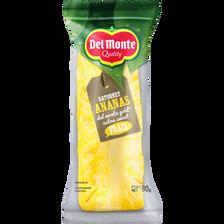 Ananas frais extra sweet en barre, DELMONTE, sachet, 80g