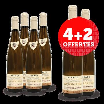 Gewurztraminer Vin Blanc Hve - Alsace - Aop - Gewurztraminer Edouard Leiber Grande Réserve 2020 - 6x75cl