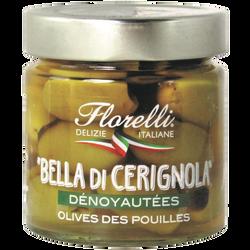 FLORELLI BELLA DI CERIGNOLA ( olives des pouilles DENOYAUTEES en saumure) 200g