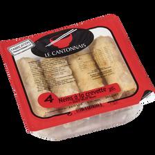 Nems aux crevette sauce Nuoc Mam LE CANTONNAIS, 4 pièces, 280g