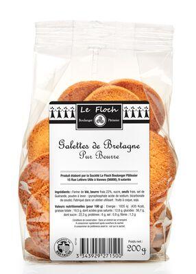 Galettes de Bretagne pur beurre LE FLOCH, sachet de 200g