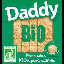 Petits sucres en cubes 100% pure sucre de canne bio DADDY, paquet de 500g