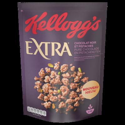 Céréales extra chocolat noir et pistache KELLOGG'S, 450g