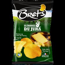 Chips de pommes de terre ondulées saveur fromage BRET'S, sachet de 125g