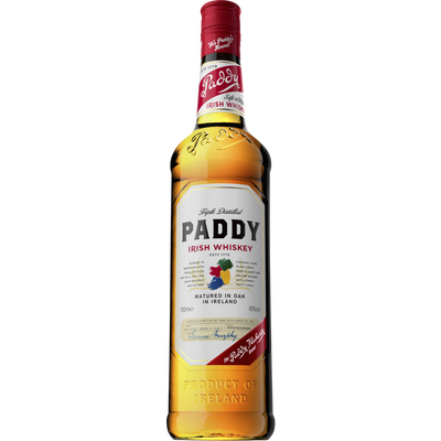 Irish whiskey PADDY, 40°, bouteille 70cl