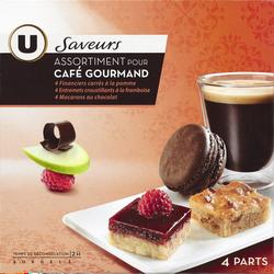 Assortiment pour café gourmand Saveur U, 4 parts soit 230g