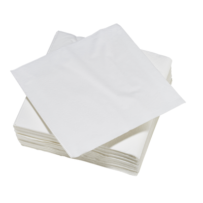 Serviette cocktail U, 25x25cm, blanche, pack de 50