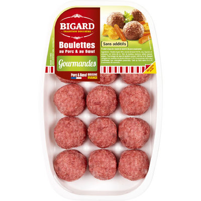 Boulette gourmande, BIGARD, France, 15 pièces, 375g