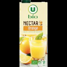 Nectar d'orange U BIO, brique de 1,5l