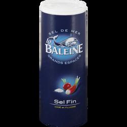Sel de mer fin iodé et fluoré LA BALEINE, boîte verseuse de 750g