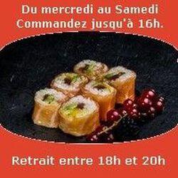 Saumon rolls 6 pièces,Thon shishimi sauce curry coco aux 7 épices avocat mangue, SUSHI MONT BLANC