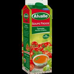 Soupe froide de tomate menthe et basilic ALVALLE, 1l
