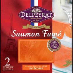 Saumon fumé supérieur Ecosse DELPEYRAT, 2 tranches soit 65g