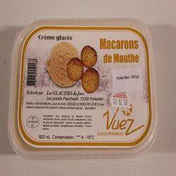 CREME GLACEE AUX MACARONS DE MOUTHE BAC DE 600ML
