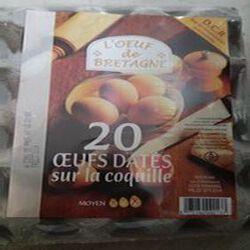 20 œufs datés DCR l'œuf BZH