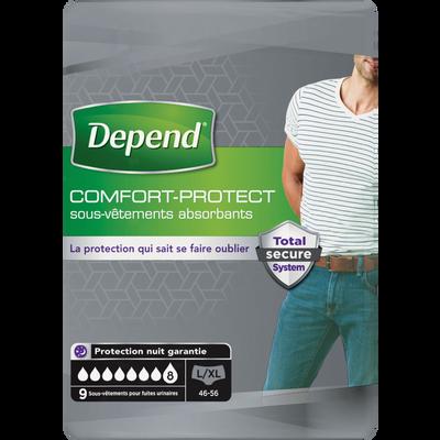 Sous vêtement homme comfort protect taille L/XL DEPEND, x9