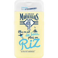 Douche les p'tits bonheurs riz de Camargue, LE PETIT MARSEILLAIS, flacon de 250ml