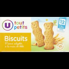 Biscuits pour bébé U TOUT PETITS, dès 12 mois, paquet de 150g