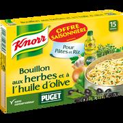 Knorr Bouillon Herbes Et Huile Olive Puget Knorr X15 Tablettes 150g 7,5l