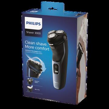 Philips Rasoir Philips Series 3000 S3133/51-utilisation À Sec Ou Avec Mousse-poignée Ergonomique Pour Manipulation Facile- Système Powercut-têtesflex.dans 5-60 Min Autonomie