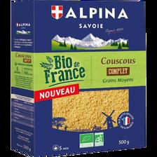 Couscous complet de France BIO ALPINA SAVOIE, paquet de 500g