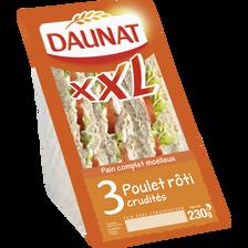 Sandwich triangle XXL poulet rôti et crudités DAUNAT, 230g