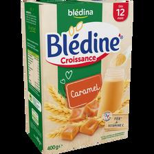 Lait croissance Blédine céréales caramel et lait BLEDINA, dès 12mois,paquet de 400g