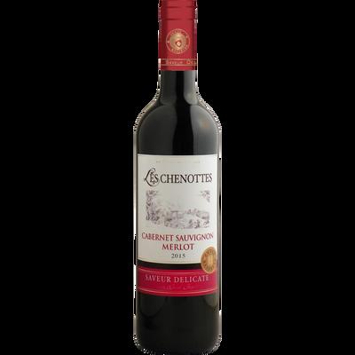 Vin rouge d'Espagne cabernet Sauvignon Merlot les Chenottes, 75cl