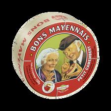 Petit camembert au lait pasteurisé BON MAYENNAIS, 27%MG, 150g